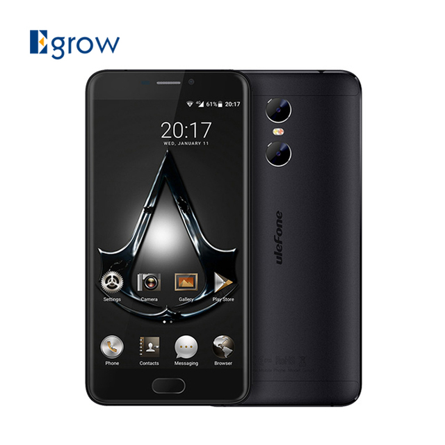 Original Ulefone Gemini MTK6737T Quad Core Android 6.0 Mobile Phone 2 Back Camera 5.5 Inch Cell Phone 3G RAM 32G ROM Smartphone