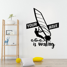 Hot Sale wave is wailing Wall Sticker Home Decor Decoration Waterproof Decals Bedroom Nursery