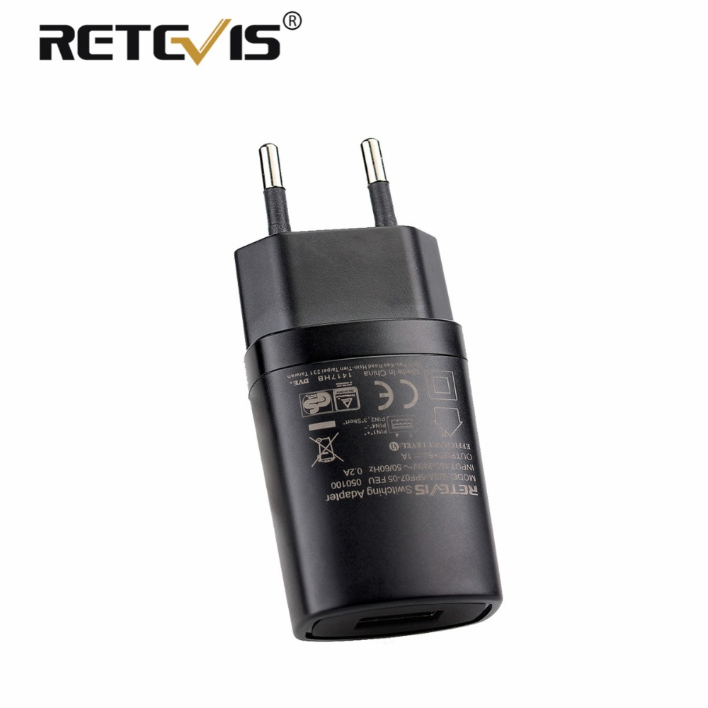 RETEVIS 5V 1A USB Wall Charger EU/US/UK/AU Adapter For RETEVIS H777 RT7 RT24 RT27 RT28 RT40 Walkie Talkie/Mobile Phone Charger