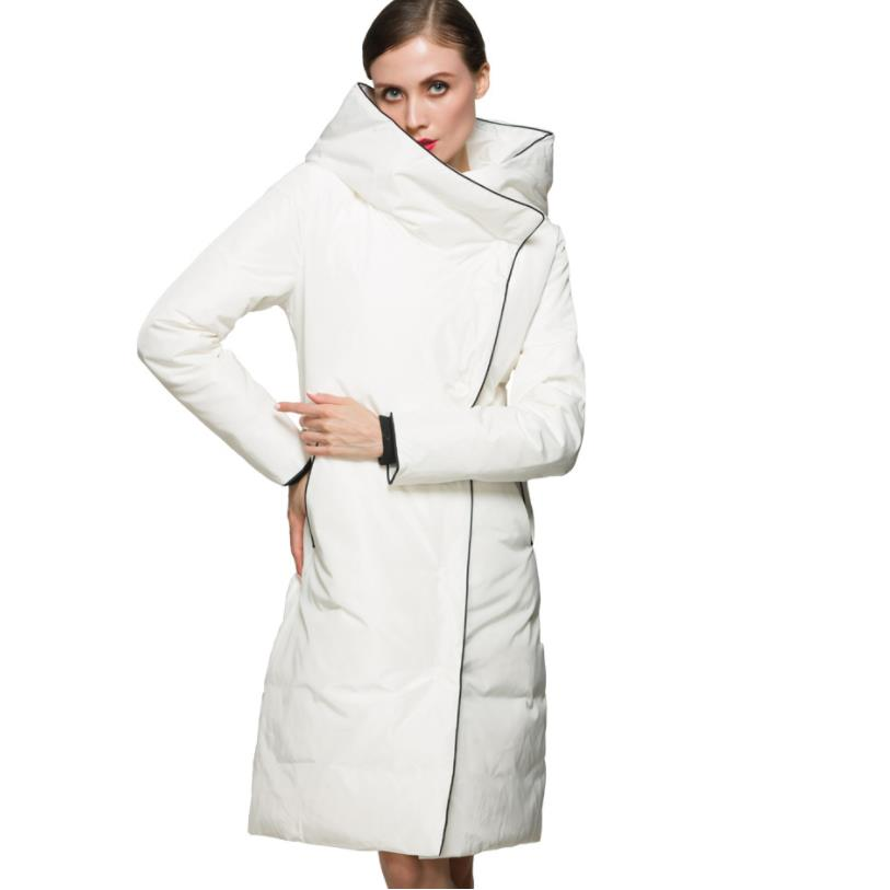 Wholesale Same style with Famous Star 90 white duck   down   jacket female long plus yards thick winter   down     coats   w840