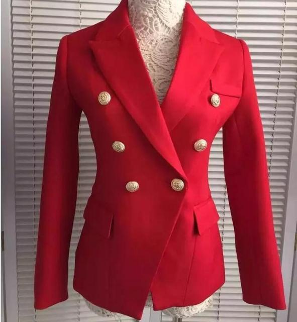 Европейский станция 2016 новая весна женские новые модели Драпировки золотой пряжкой тонкий тонкий пиджак же звезда одежда q12