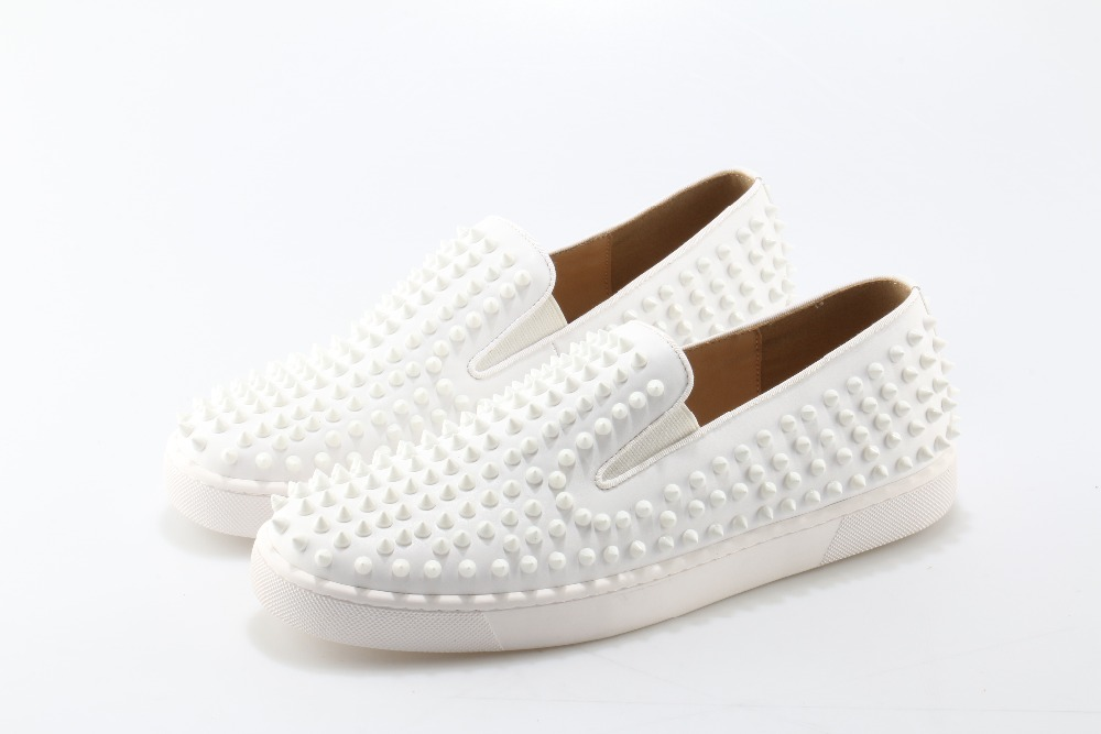 Zapatos hombre summer white leather shoes men sapato social masculino loafers zapatillas slip on studded men casual shoes flats okhotcn fashion lace up men shoes sapato masculino zapatos hombre high top casual shoes black rivets embellished flats boots