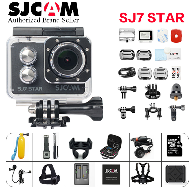 32G TF Card SJCAM SJ7 Star Action Camera 4K Wifi Ultra HD 30M Waterproof Mini Cam Touch Screen Better go Pro Swim Sports Camera refurbished original sjcam sj7 star wifi action camera 4k