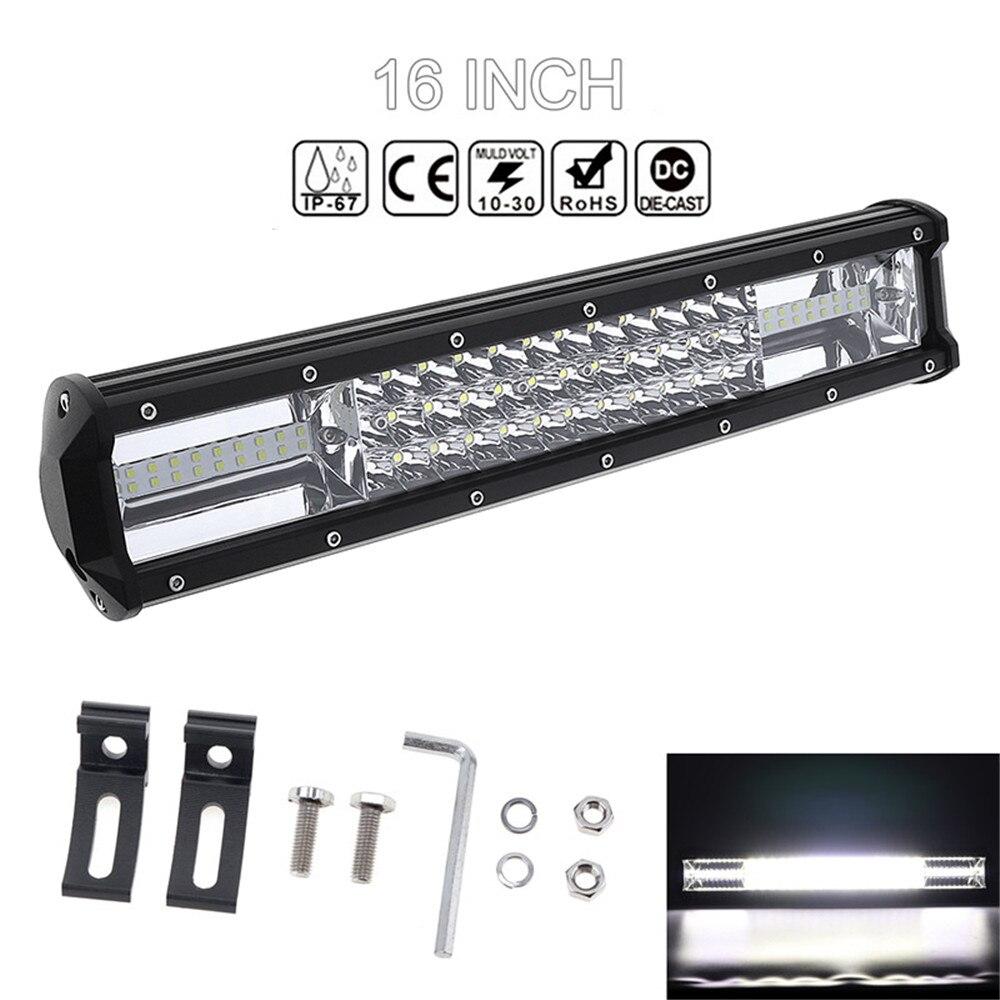 Universel 7D 16 ''360 W Voiture LED Lampe de Travail Bar Triple Rangée Spot Flood Combo Offroad Lumière Conduite Lampe pour Camion SUV 4X4 4WD ATV