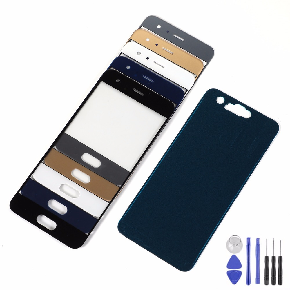 For Huawei Honor 9 LCD Display Front Glass Touch Screen Sensor Panel+Adhesive