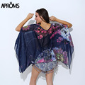 Boho Batwing Manga Blusa de La Gasa Mujeres Casual Floral Print Loose Camisas de Gran Tamaño Beach Túnica Tops Peplum Blusas Kimono Robe
