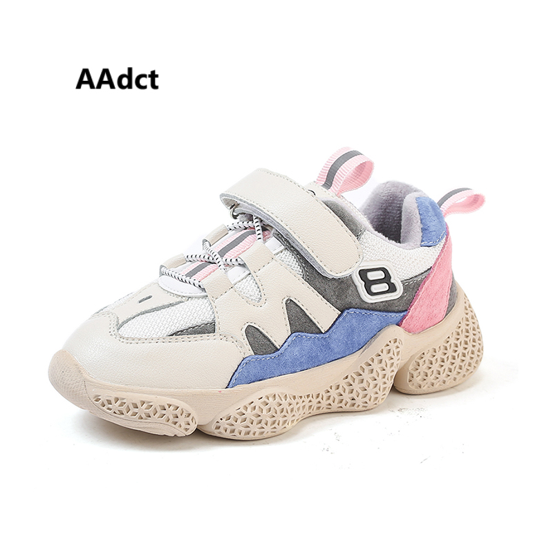 AAdct Warm running children shoes Casual sports shoes for girls and boys Cotton sneakers kids shoes 2018 autumn and winter Brand aadct 2018 new spring autumn casual sports children shoes breathable leather shoes for girls boys soft sneakers kids shoes