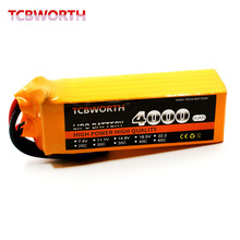 TCBWORTH RC LiPo battery 6S 22.2V 4000mAh 25C For RC Airplane Helicopter Quadrotor Car boat Drone Truck 6s Li-ion batteria