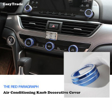 Aluminum Alloy Air conditioning knob decorative cover For Honda accord 10 car Accessories