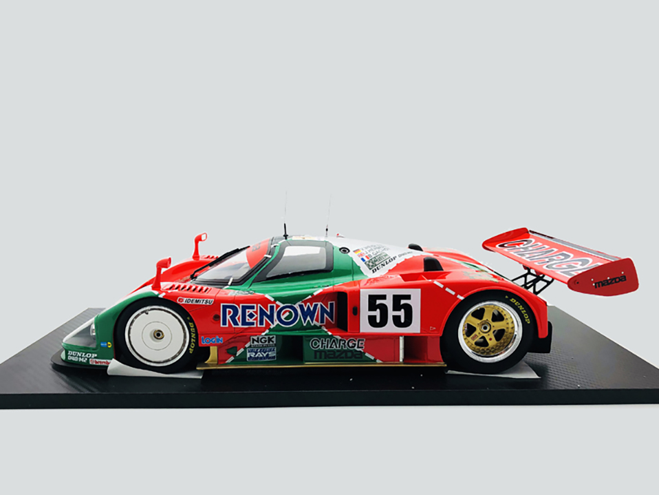Diecast 112 car Toys For Boys red Mazada Diecasts Toy Vehicles 787B abs children Birthday Gift Model Car (9)