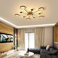 Prostokąt aluminium nowoczesne lampy sufitowe led do salonu sypialnia AC85 265V biały/czarny lampy sufitowe w Oświetlenie sufitowe od Lampy i oświetlenie na