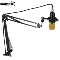 NB 35 Professional Adjustable Metal Suspension Scissor Arm Microphone Stand for Mounting on Desk Table Top