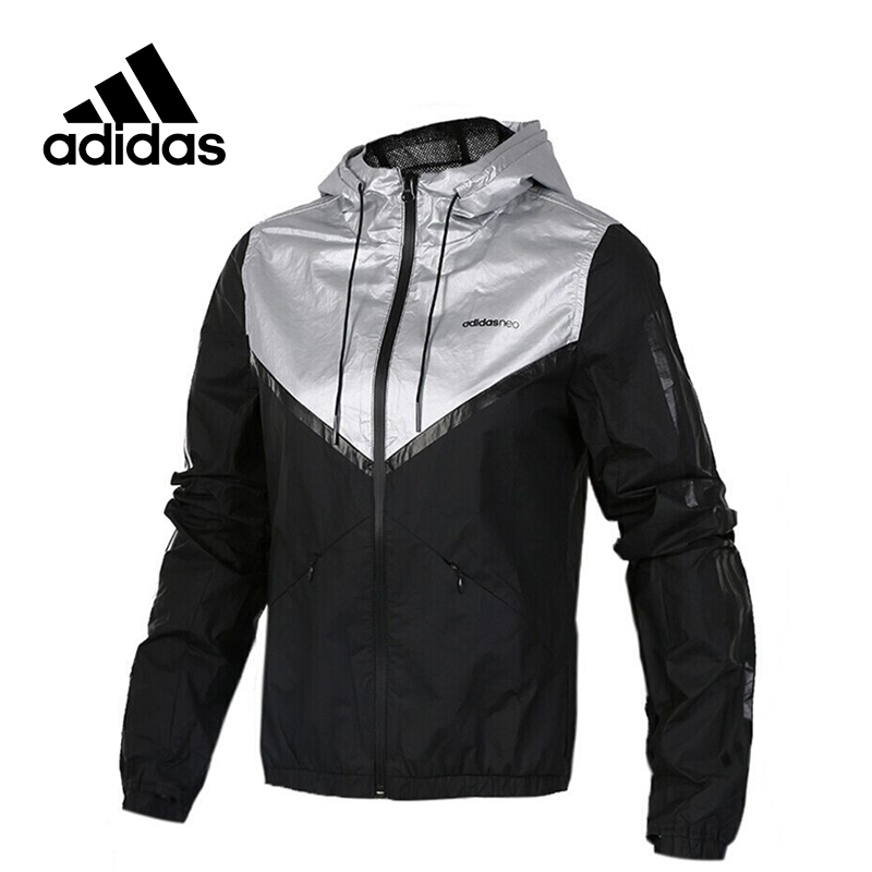 Original New Arrival Adidas NEO Women's Windproof jacket Hooded Sportswear original new arrival official adidas men s breathable jacket hooded sportswear