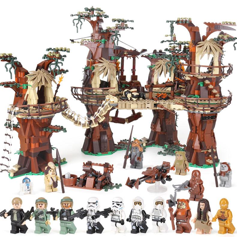 Lepin 1990pcs star 05047 wars Ewok Village Building Blocks Juguete Para Construir Bricks Toys children LegoINGlys 10236 birthday 2016 new lepin 05047 1990pcs star wars ewok village model building kits figure blocks bricks compatible children toy 10236