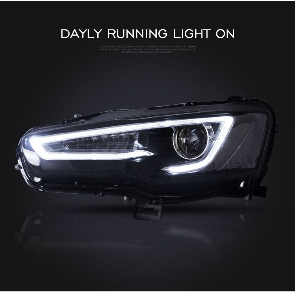 Mitsubishi Lancer & EVO Headlight 2008-2017 LED DRL