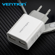 Vention 5V 1A 2.4A Dual USB Portable Travel Wall Charger Adapter EU Plug For samsung s8 iphone 8 X Xiaomi 8 Mobile Phone Charger 5v 4a mobile phone charger eu travel wall power adapter for samsung galaxy xiaomi redmi iphone 7 8 8 plus charging cable plug