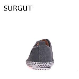 Image 4 - SURGUT minimalistyczny Design marki 100% prawdziwa skóra zamszowa mężczyzna rozrywka płaskie marki wiosna formalne Casual Dress buty typu Oxford na płaskim obcasie