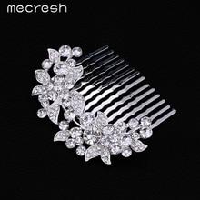 Mecresh Original Leaf Crystal Bridal Hair Combs Hairpin Wedding Hair Accessories Hair Jewelry Rhinestone Jewelry FS005