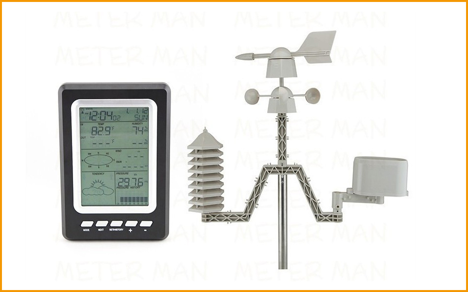 Home Use Professional Weather Station With Solar Power 433mhz With