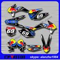 FREE SHIPPING MOTORCYCLE 3M 69 GRAPHICS  BACKGROUND DECALS STICKERS KITS FOR KTM SX SXF 125 150 250 350 450 2013 2014 DIRT BIKE