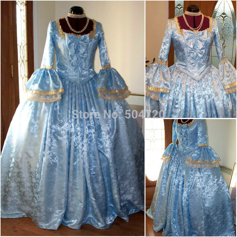 Discount Custom Made Vintage Victorian Medieval Style: Popular 1800 Ball Gowns-Buy Cheap 1800 Ball Gowns Lots