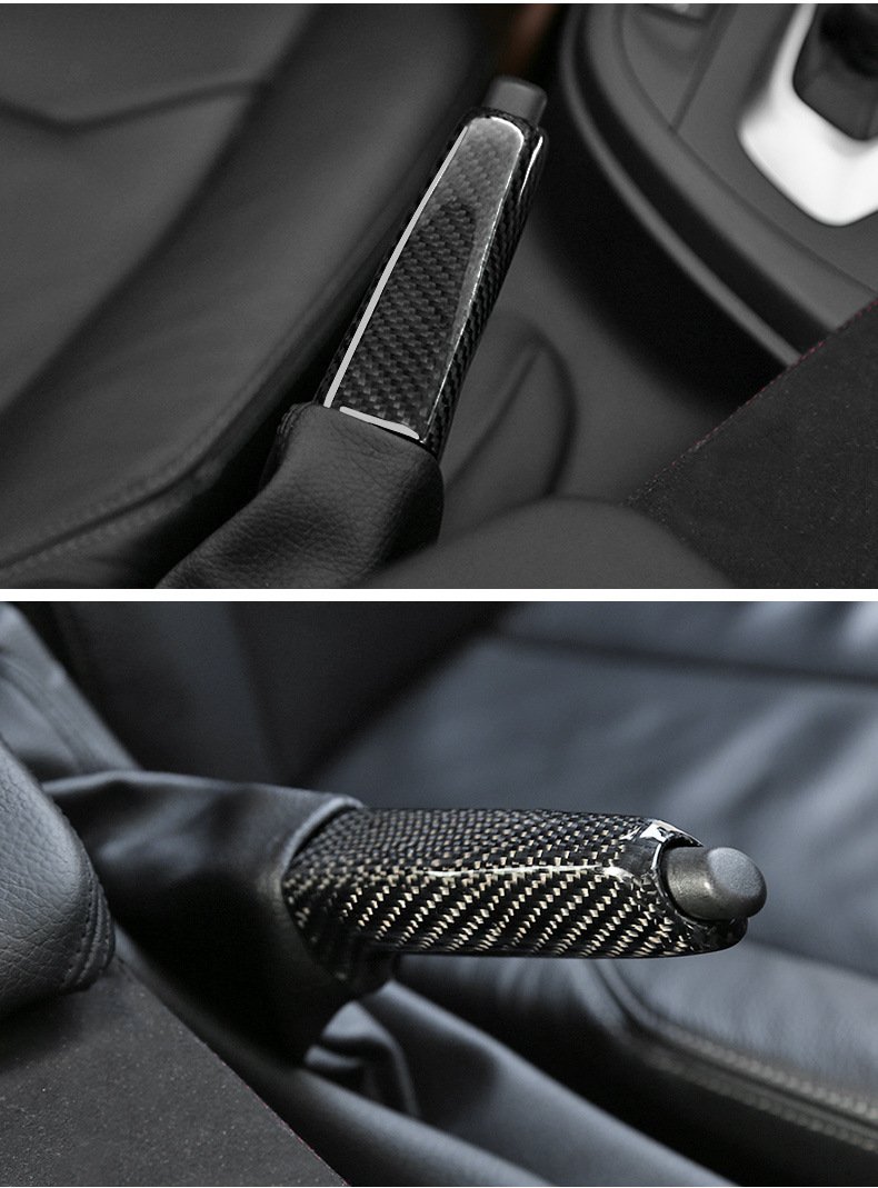 Garniture de frein à main en Fiber de carbone décoration intérieure de voiture pour BMW E46 E90 E92 E60 E39 E36 F30 F34 F10 F20 accessoires - 6