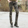 Camo pants for women High Quality Military Camouflage Casual Pants 100% Cotton Woman Trousers Army Uniform Tactical Clothing