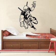 Superhero DC Marvel Comics Deadpool Wall Sticker Poster Vinyl Decal Home Interior Decoration Teen Room Dorm Art Mural E690