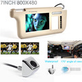 Fochutech Touch 7 pulgadas de coches parasol DVD / TV Screen Media y de visión trasera de reserva de plata del Monitor / cámara kits