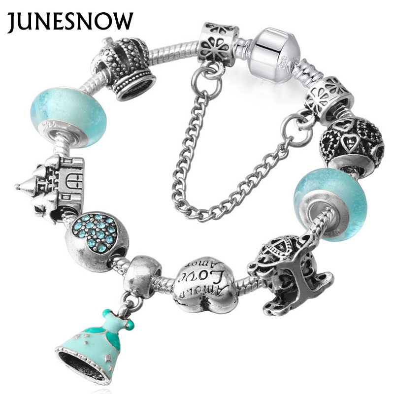 Charm Green Dress Dangle And At Night Can Glowing Crystal Beads Bracelets For Women Snake Bracelets & Bangles Pulsera
