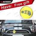 Yellow Car For Mini Cooper Front Grille Emblem Badge Stickers Countryman Clubman R55 R56 R57 R58 R59 R60 R61 F55 F56 Accessories