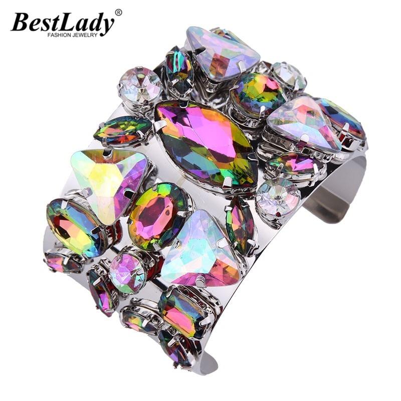 Best lady Big Brand Hot Cheap Luxury Cuff Bangles Wholesale Bohemian Colorful Wedding Gift Bracelet Bangles Statement Women 4119