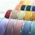 DIY 3mm Silk thread milan cord Jewelry & packing & shoes rope Necklaces & Bracelets cords 30colors No.1-15color 4meters/roll