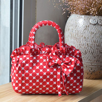 Yeni Çanta Kadın Papyon Baskı Kanvas Çanta Küçük çanta Moda El Çantası Fabrika Outlet 10 Parça/paket Dropship