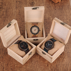 Image 5 - BOBO BIRD Wooden Timepieces Men Women Watch Leather Band  With Simple Anlaogue Display in Wooden Gift Box Accept Logo