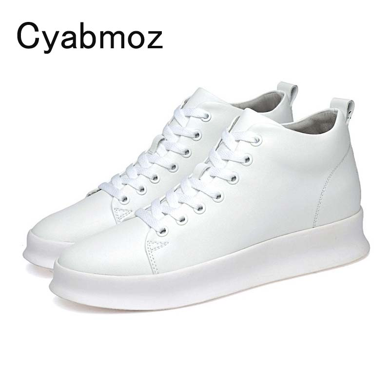 2018 New Arrival British Fashion Men Shoes Comfort Breathable Genuine Leather Casual Hidden Heel Shoes Lace-Up Height Increasing chilenxas autumn winter large size 35 45 leather men casual shoes lace up breathable lovers height increasing fashion waterproof