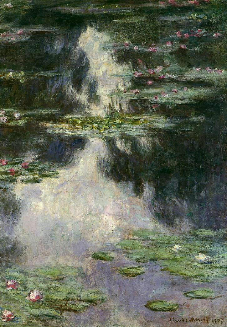100% handmade landscape oil painting reproduction on linen canvas,water-lilies-26 by claude monet100% handmade landscape oil painting reproduction on linen canvas,water-lilies-26 by claude monet