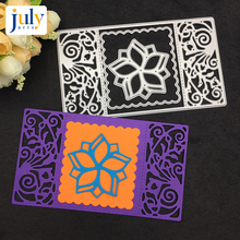 Julyarts Cutting Dies Window Frame Embossing Cutter Paper For Scrapbooking Craft Silver Metal