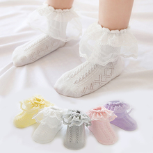 Newborn Christening Winter Warm high quality Cotton Baby Girl Sock Kids Ruffled Knitted short Lace clothing accesories