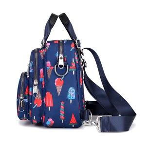 Image 2 - 여성 나일론 배낭 방수 여성 디자이너 어깨 가방 만화 인쇄 배낭 미니 캐주얼 bagpack sac 주요 소녀 가방
