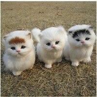 Ücretsiz kargo Simülasyon hayvan oyuncak kedi peluş oyuncaklar pet kedi arayacak çocuk modeli mobilya makaleleri bir doğum günü hediyesi