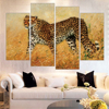 New Yellow Leopards Oil Painting HD Wall Picture Art Print Painting On Canvas For Living Room