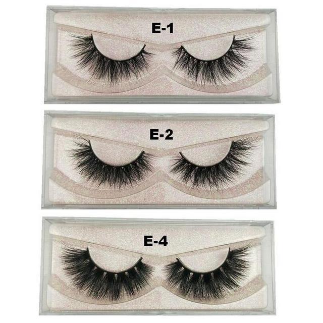 8ea2aae2083 Mink Eyelashes 100% Cruelty free Handmade 3D Mink Lashes Full Strip Lashes  Soft False Eyelashes Makeup Wispy Lashes E11