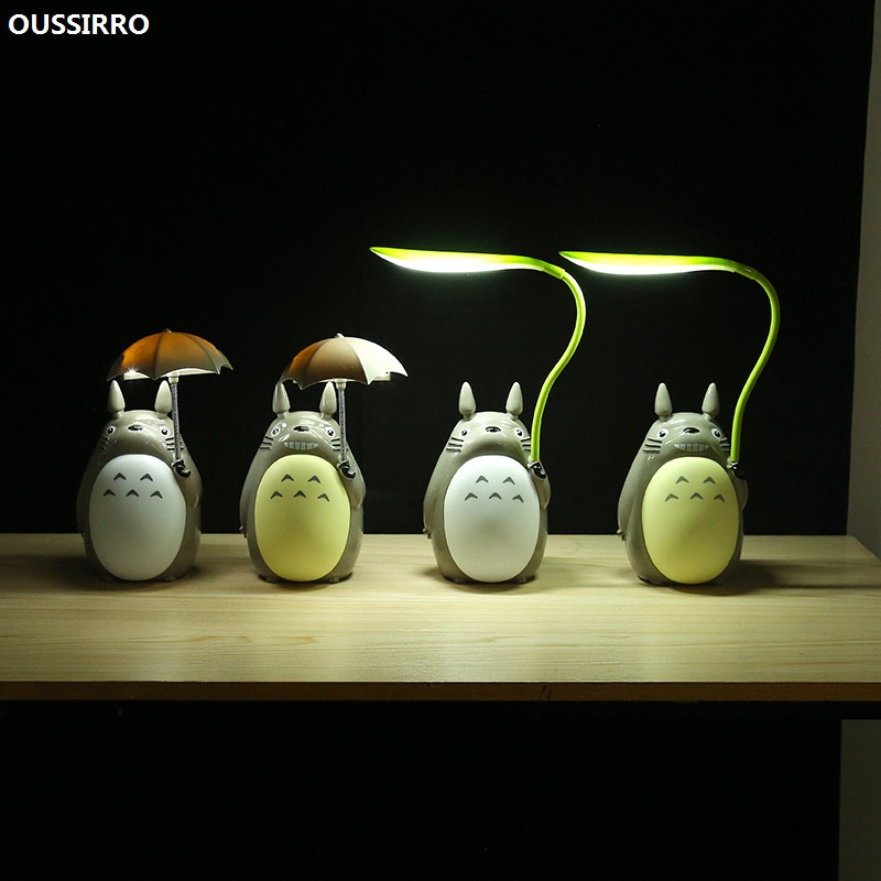 OUSSIRRO Cartoon Totoro Night Light USB Charging Table Lamp Led Night Light Reading for Kids Gift Home Decor Novelty Lightings novelty kids night light cute cat shape led table lamp for home decoration