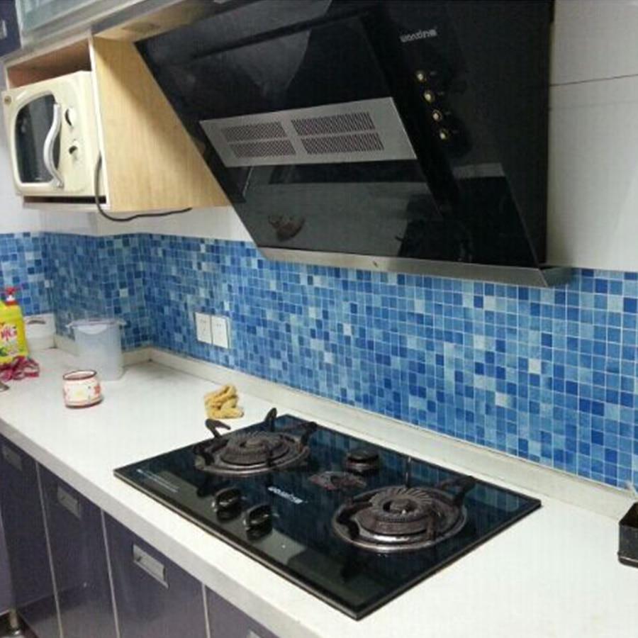 0.45x10m Mosaic vinyl Self adhesive wallpaper for kitchen tile black ...