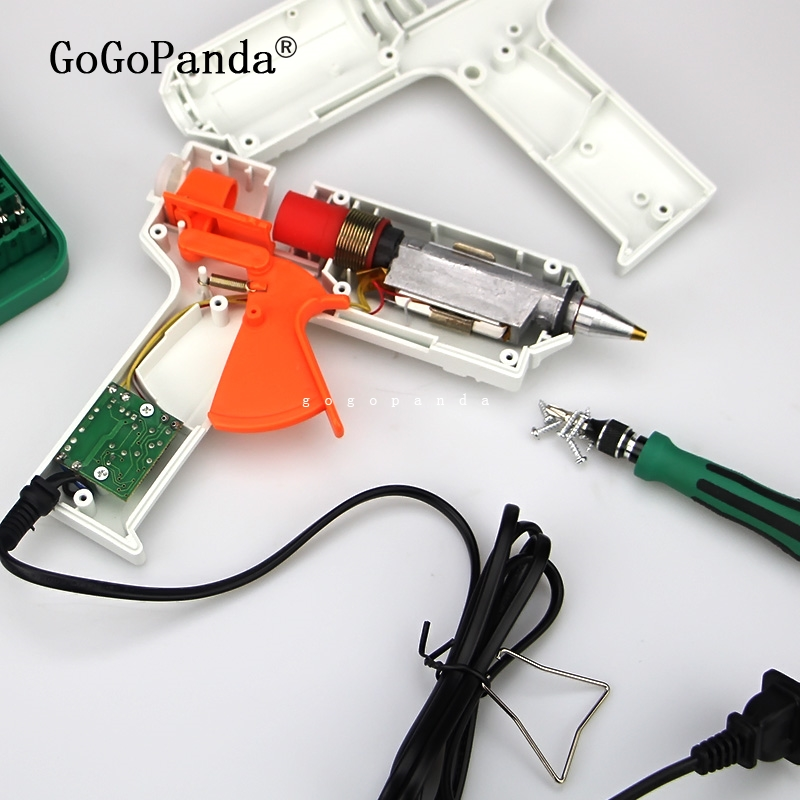 Image 4 - Free Shipping 220v 40 150w Hot Melt Glue Gun Temperature Adjustable Repair Kit Tools with 5 Pcs Glue Sticks-in Glue Guns from Tools on