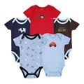 5 pçs/lote roupas primeiro presente de natal da menina do menino infantil bebes macacão de manga curta bebê recém-nascido 100% algodão roupas mother nest