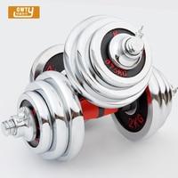 20kg Adjustable Dumbbell set For Fitness And Bodybuilding Equipment Weight Dumbbell Set Cap Gym Barbell Plates dumbbell female