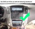 Wince6.0system 800 Mhz CAR DVD PLAYER BLUETOOTH TV RÁDIO de NAVEGAÇÃO GPS PARA lexus rx300, rx330, rx350, rx400h toyota Harrier
