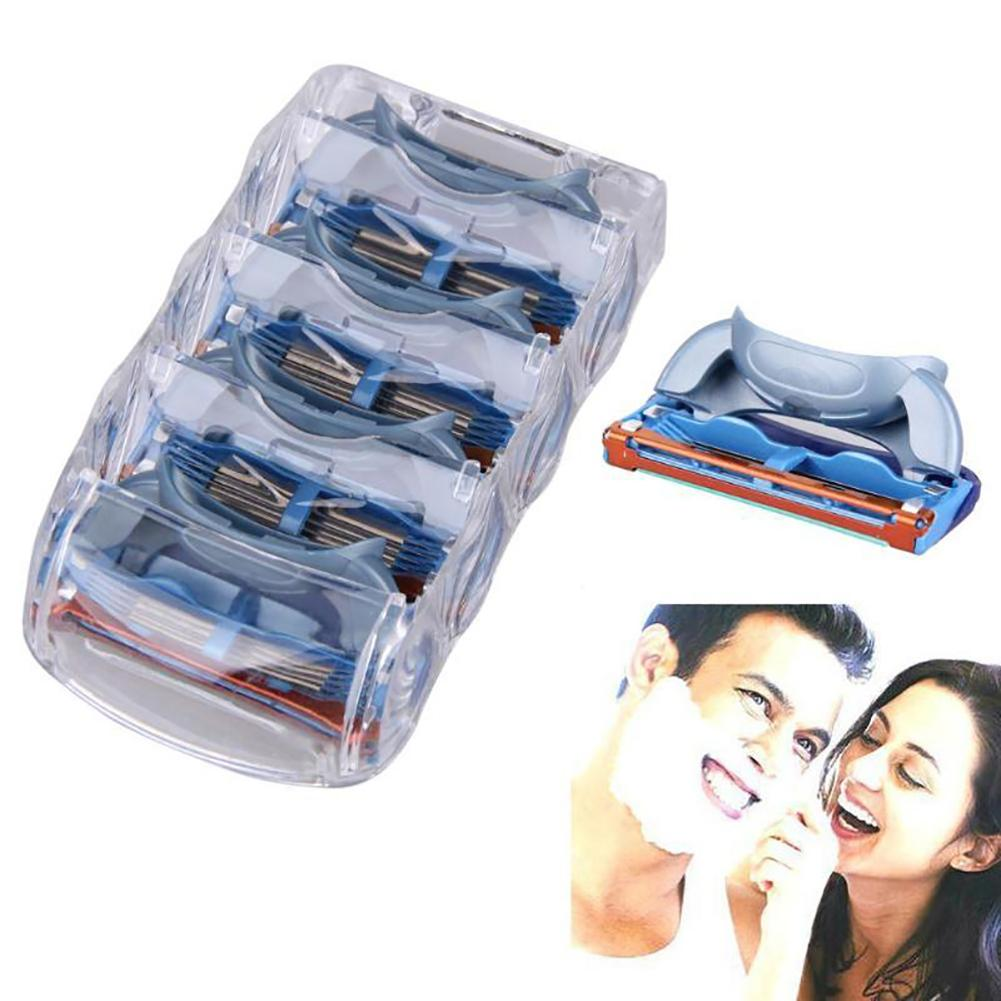 Beauty Female Safety  5 Layers Men's Face Shaving Razor Blade  For Women  Refill  Replacement  Head Accessory